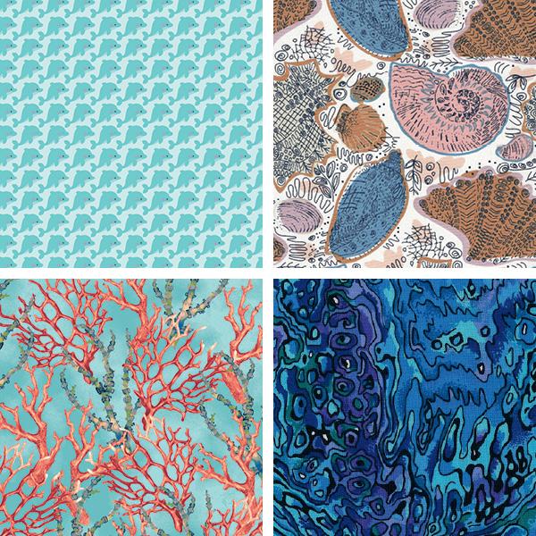 Pattern & Palette Play Ocean Fabrics