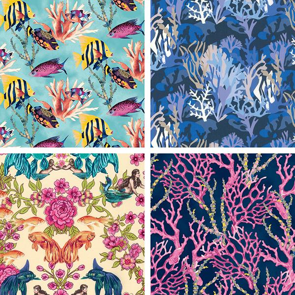 Pattern & Palette Play: Ocean Fabrics
