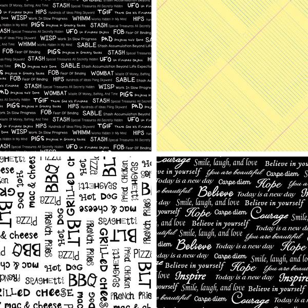 Typography fabrics 2