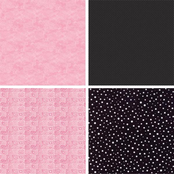Black and Pink Fabrics