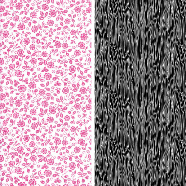 pink and black fabric