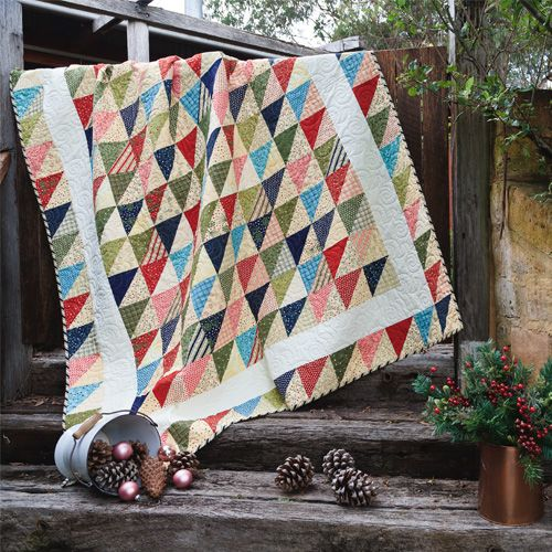 Long-Arm Quilting Tips - Twinkling Triangles Quilt