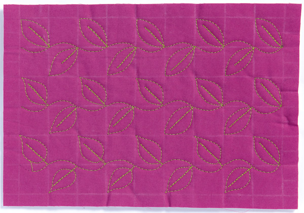 Free-Motion Quilting Sample 6