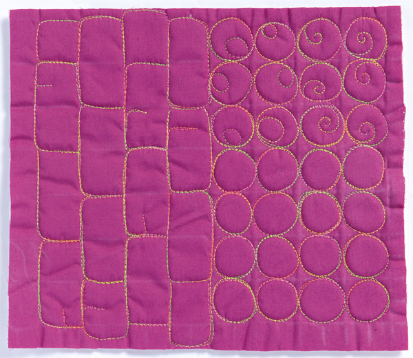Free-Motion Quilting Sample 7