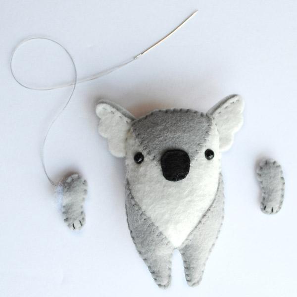 Koala Softie Pattern Step 5
