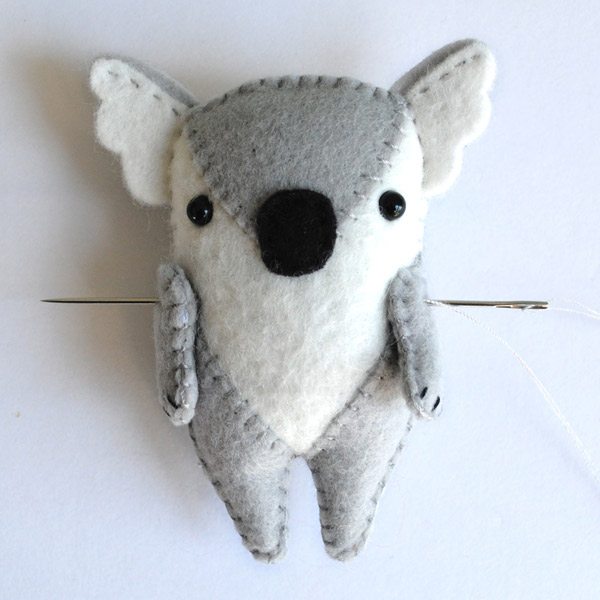 Koala Softie Pattern Step 7