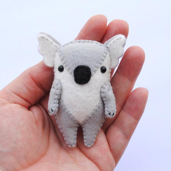 Koala Softie Pattern Step 8