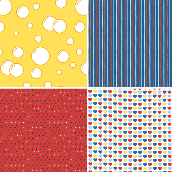 Primary Colour Fabrics 17-20