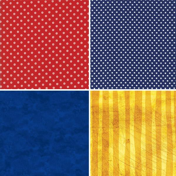 Primary Colour Fabrics 21-24