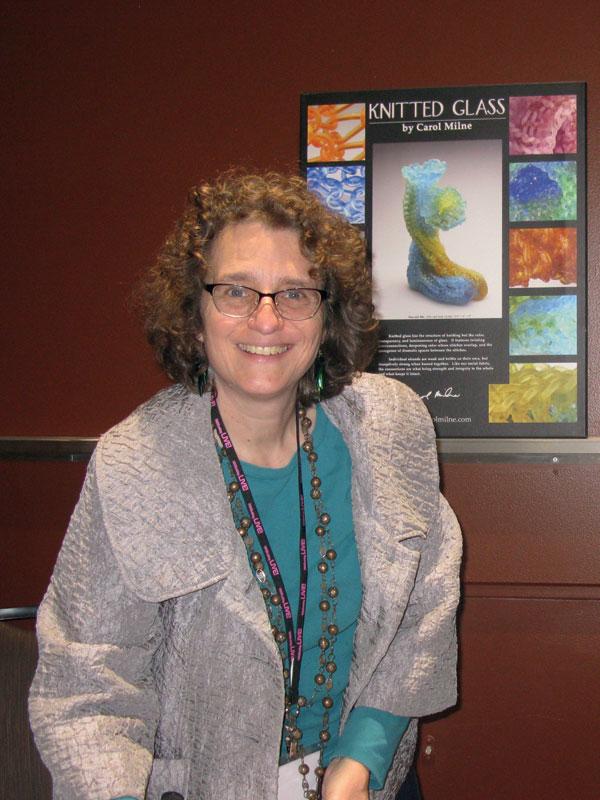 Carol Milne 1 knitting