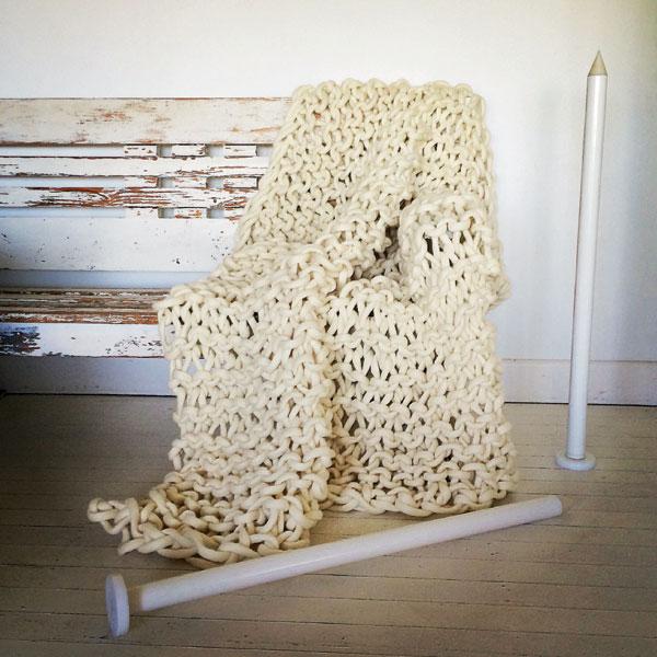 Jacqueline Fink 3 knitting
