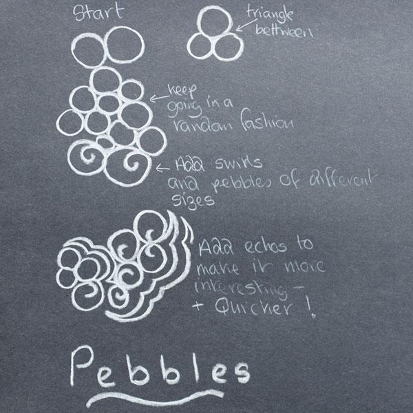 Image 8 Pebbles Line Drawing
